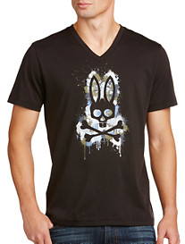 Psycho Bunny® Dripping Color V-Neck Tee