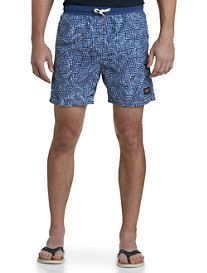 Paul & Shark® Geometric Swim Trunks