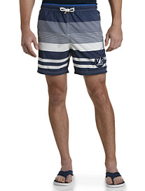 Paul & Shark® Gradient Stripe Swim Trunks