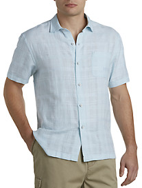 Tommy Bahama® Squarely There Linen-Blend Sport Shirt