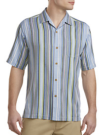 Tommy Bahama® Lido Stripe IslandZONE® Camp Shirt