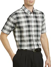 Cutter & Buck™ Larkspur Plaid Poplin Sport Shirt