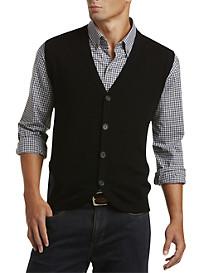Cutter & Buck™ Bosque Button-Front Sweater Vest