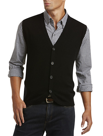 Button Sweater Vest from Destination XL