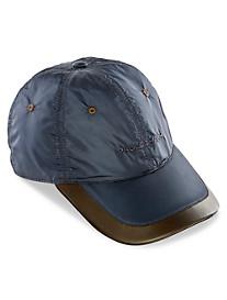 Paul & Shark® Leather-Trim Nylon Baseball Cap