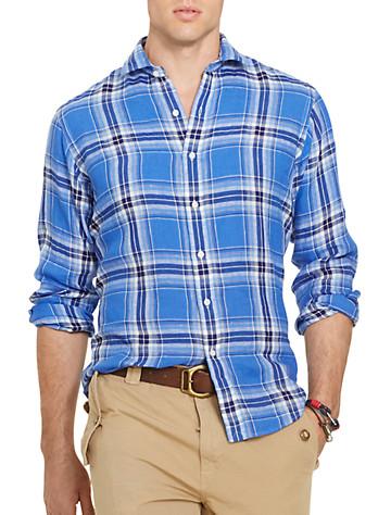 Polo Ralph Lauren® Plaid Linen Work Shirt