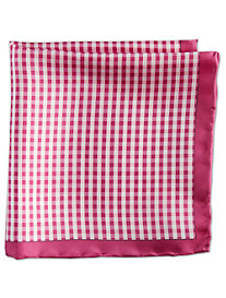 Rochester Gingham Silk Pocket Square