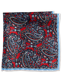 Rochester Holiday Paisley Silk Pocket Square