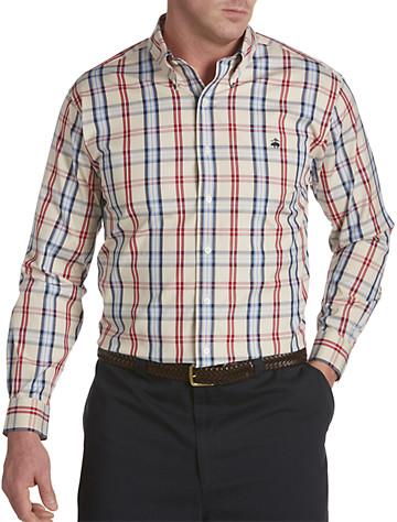 Brooks Brothers® Non-Iron Tartan Pinpoint Oxford Sport Shirt