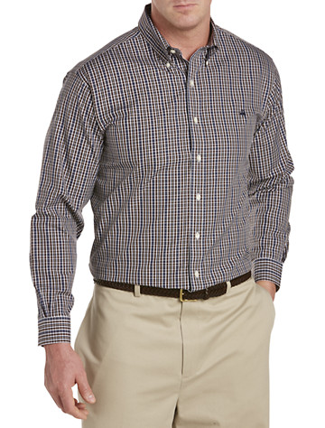 Brooks Brothers® Non-Iron Plaid Pinpoint Sport Shirt -  On Sale!