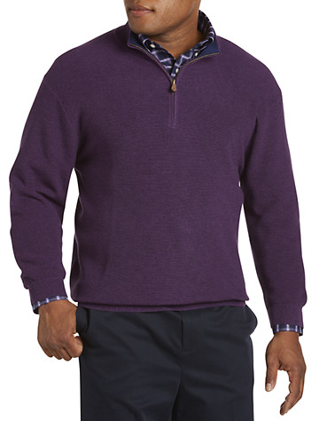 Brooks Brothers® Supima Cotton Piqué Quarter-Zip Sweater -  On Sale!