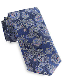 Rochester Large Textured Paisley Silk Tie