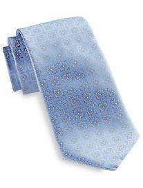 Rochester Square Floral Medallion Silk Tie