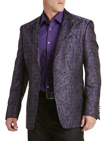 Tallia Orange Paisley Sport Coat (purple)
