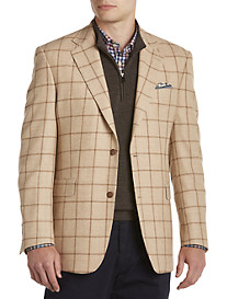 Tallia Orange Windowpane Wool Sport Coat