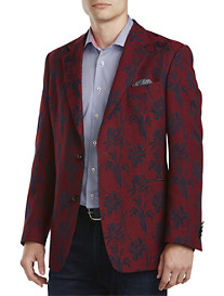 Tallia Orange Floral Jacquard Sport Coat