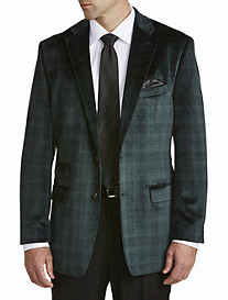 Ralph by Ralph Lauren Black Watch Plaid Velvet Sport Coat