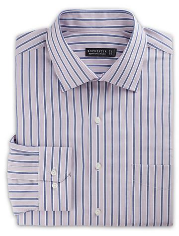 Rochester Non-Iron Textured Stripe Dress Shirt (blue boysenberry) - $89.5