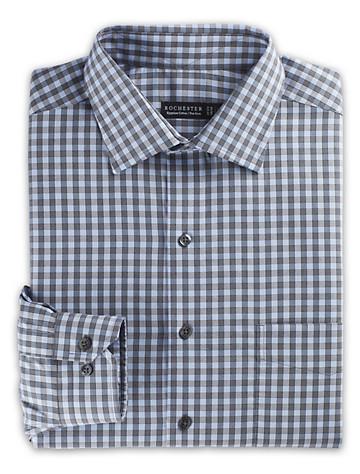Rochester Non-Iron Textured Check Dress Shirt (blue check) - $89.5