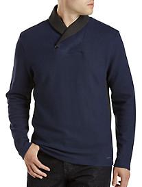Calvin Klein Sport® Colorblock Shawl-Collar Pullover