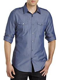 Calvin Klein Sport® Roll-Sleeve Chambray Sport Shirt