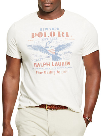 Polo Ralph Lauren® Eagle Americana Graphic T-Shirt - Available in antique cream