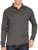 Polo Ralph Lauren® Soft-Touch Polo with Leather Trim