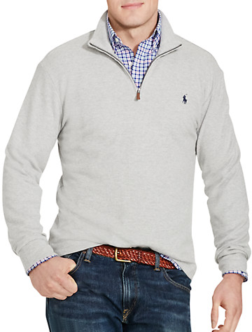 Polo Ralph Lauren® Cashmere-Touch Half-Zip Pullover - Available in andover heather
