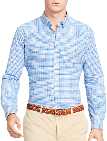 Polo Ralph Lauren® Plaid Oxford Sport Shirt (blue navy multi)