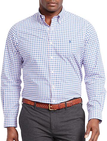 Polo Ralph Lauren® Check Poplin Sport Shirt (pink/blue) -  On Sale!