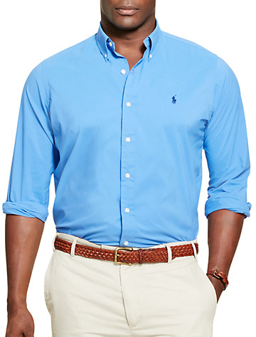 Polo Ralph Lauren® Performance Poplin Sport Shirt - Available in aerial blue