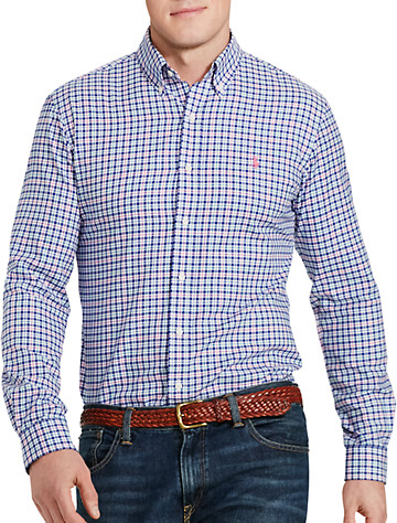 Polo Ralph Lauren® Plaid Twill Sport Shirt (blue magenta) -  On Sale!