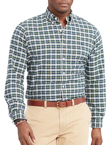 Polo Ralph Lauren® Tartan Plaid Oxford Sport Shirt (green white)