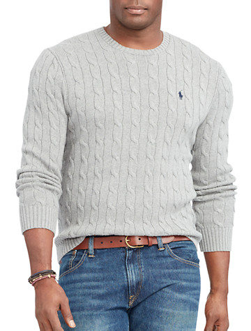 Polo Ralph Lauren® Cable-Knit Cotton Crewneck Sweater