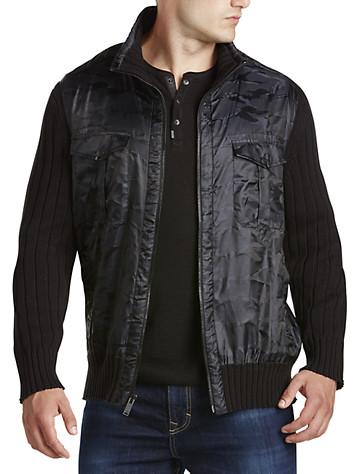 Calvin Klein Jeans® Full-Zip Cargo Sweater Jacket   Sweaters & Vests