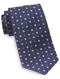 Robert Talbott Best of Class Square Grid Medallion Silk Tie