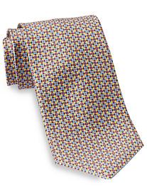 Robert Talbott Best of Class Square Circle Mini Medallion Silk Tie