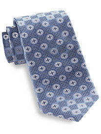 Rochester Diamond Medallion Silk Tie