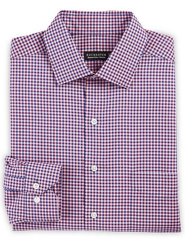 Rochester Non-Iron Check Dress Shirt (raspberry blue) - $89.5