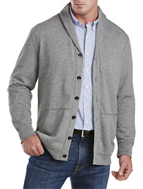 Rochester Marled Shawl-Collar Fleece Cardigan