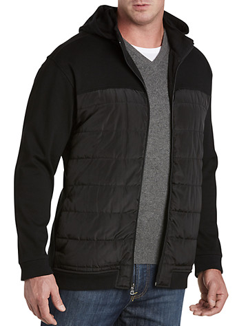 Twenty-Eight Degrees Quilted-Front Knit Hoodie - ( Long Sleeve Knits )