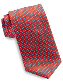 Brioni Square/Circle Neat Silk Tie