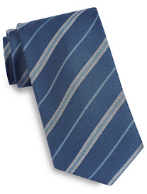 Brioni Heathered Stripe Silk Tie