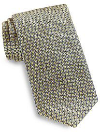 Brioni Large Circle Neat Silk Tie