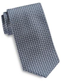Brioni Square Ombré Neat Silk Tie