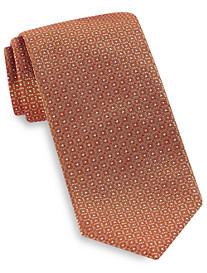 Brioni Tonal Square Neat Silk Tie