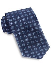 Brioni Large Medallion Silk Tie