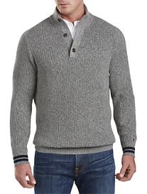 Tommy Hilfiger® Barnes 3-Button Mockneck Sweater
