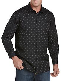 Twenty-Eight Degrees Diamond Print Sport Shirt
