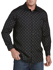 Twenty-Eight Degrees Diamond Print Sport Shirt